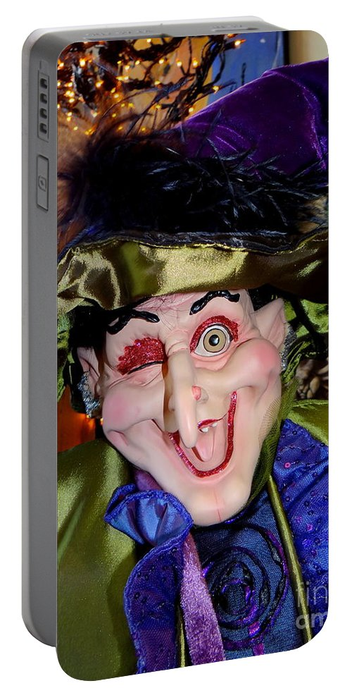 Mannequin Portable Battery Charger featuring the photograph Winkin Wizard by Ed Weidman