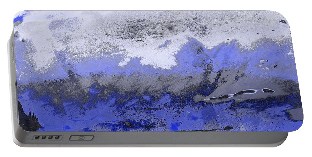 Abstract Portable Battery Charger featuring the photograph Winter Abstract by Fran Riley