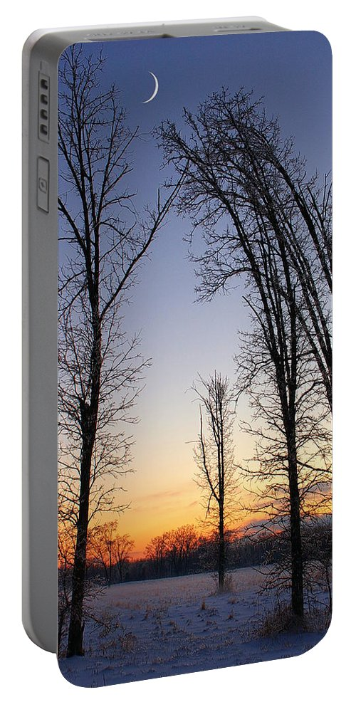 Dusk Portable Battery Charger featuring the photograph Winter At Dusk by Randy Pollard
