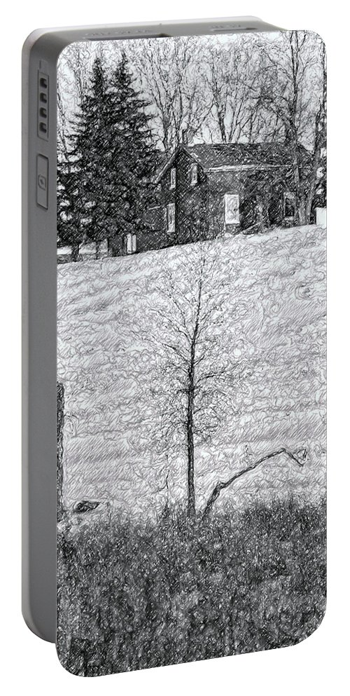 Ontario Portable Battery Charger featuring the photograph Winter Comes by Steve Harrington