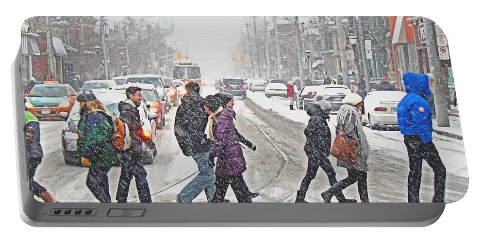 City Portable Battery Charger featuring the photograph Winter Crossing by Keith Armstrong
