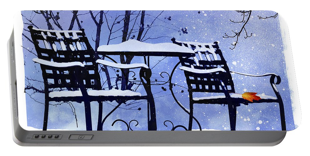 Ron Jones Portable Battery Charger featuring the digital art Winter Days by Ron Jones