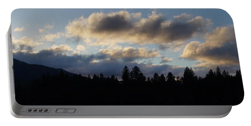 Panoramic Portable Battery Charger featuring the photograph Winter Eve In The Applegate Valley by Mick Anderson