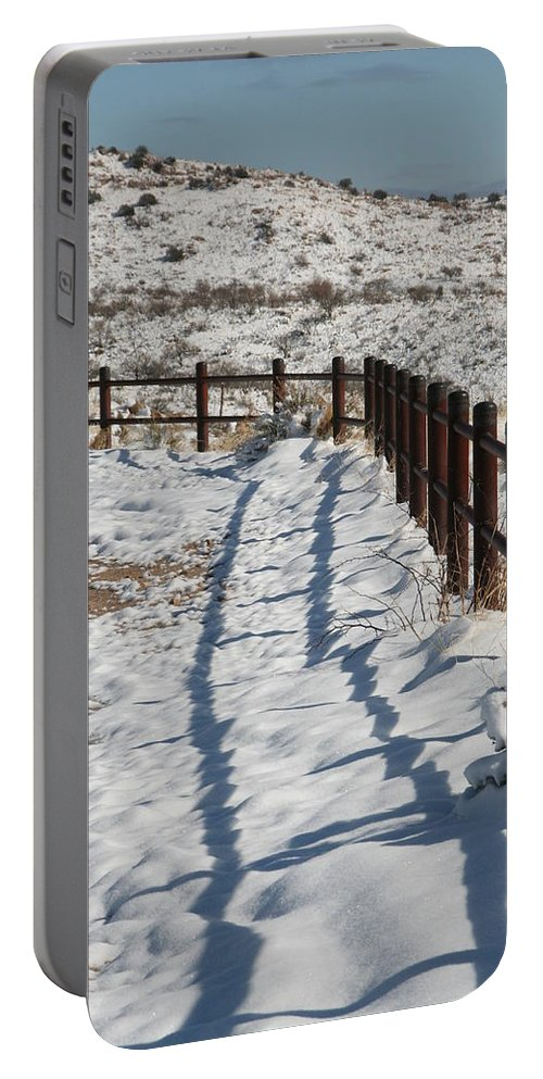 David S Reynolds Portable Battery Charger featuring the photograph Winter Fence by David S Reynolds