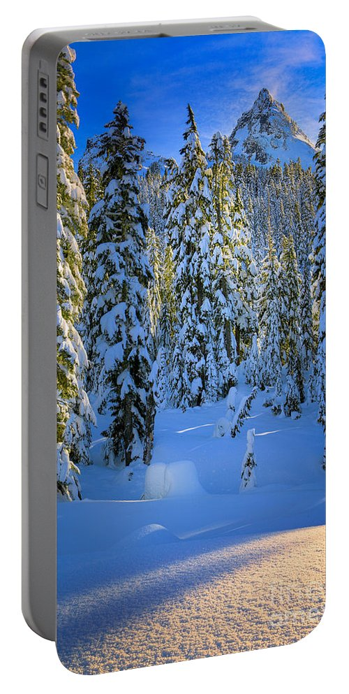 America Portable Battery Charger featuring the photograph Winter Forest by Inge Johnsson
