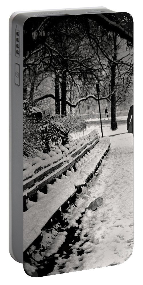 Winter Portable Battery Charger featuring the photograph Winter In Central Park by Madeline Ellis