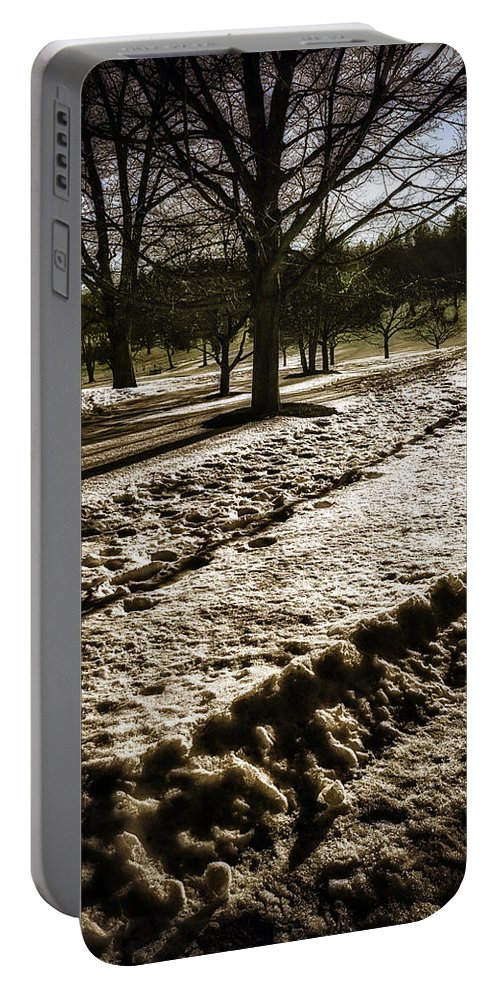 Winter Portable Battery Charger featuring the photograph Winter In The Berkshires by Madeline Ellis