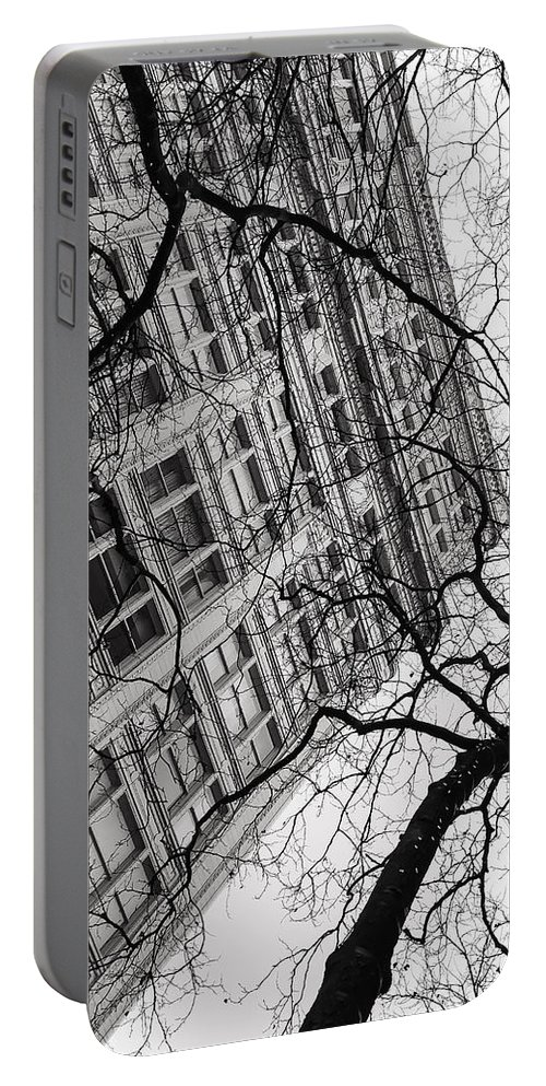 City Portable Battery Charger featuring the photograph Winter In The City by Jonathan Nguyen
