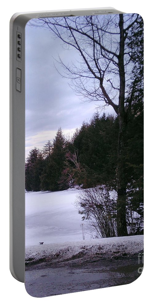 Winter Portable Battery Charger featuring the photograph Winter In Vermont by Christy Gendalia