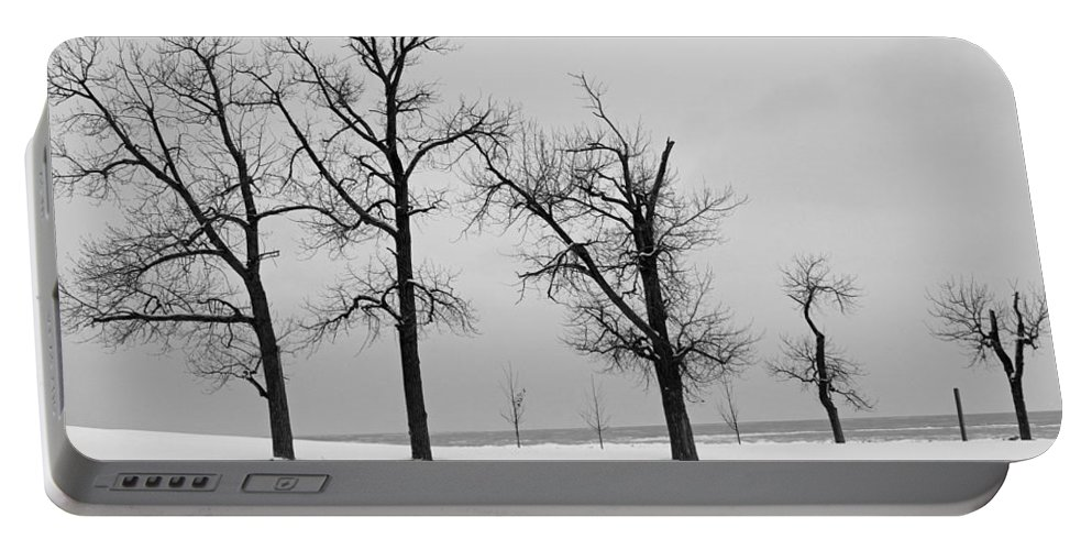 Beach Portable Battery Charger featuring the photograph Winter On The Beach by Jackson Pearson