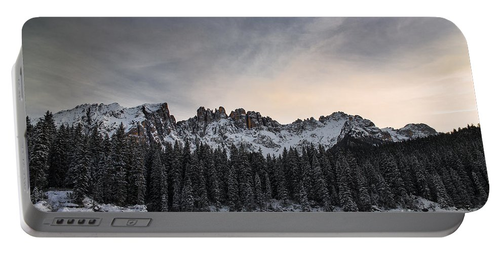 Carezza Lake Portable Battery Charger featuring the photograph Winter On The Carezza Lake by Yuri San