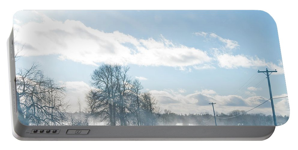 Landscapes Portable Battery Charger featuring the photograph Winter Road by Cheryl Baxter