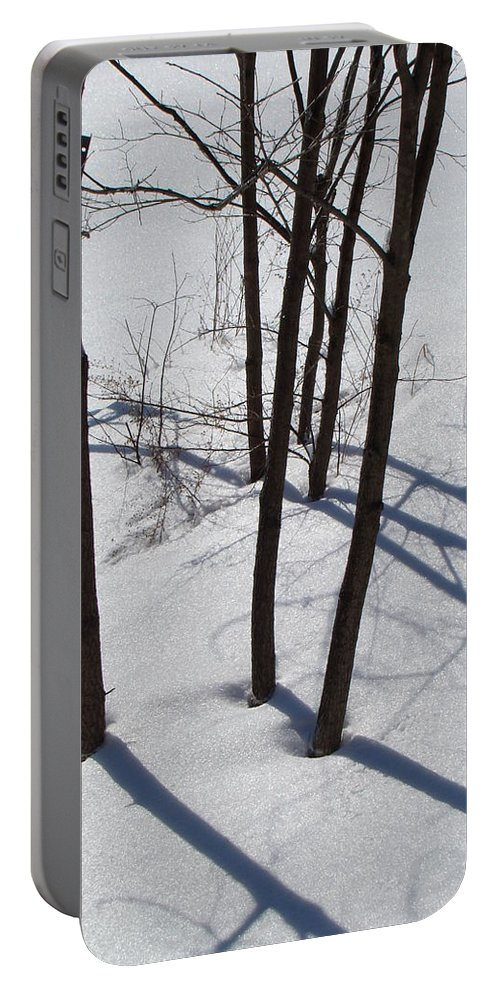 Winter Portable Battery Charger featuring the photograph Winter Silence by Martin Bellmann