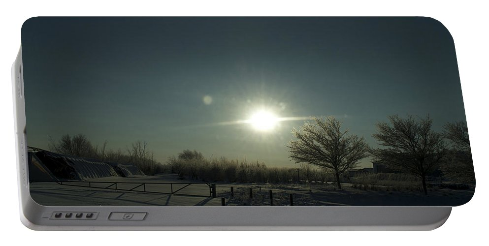 Sunrise Portable Battery Charger featuring the photograph Winter Sunrise 2014 05 by Thomas Woolworth