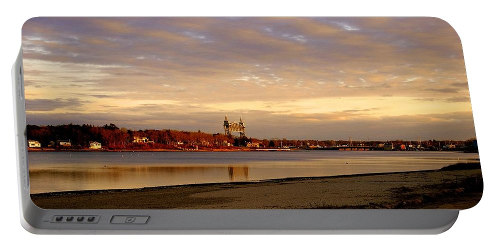 Bourne Portable Battery Charger featuring the photograph Winter Sunset by Marysue Ryan
