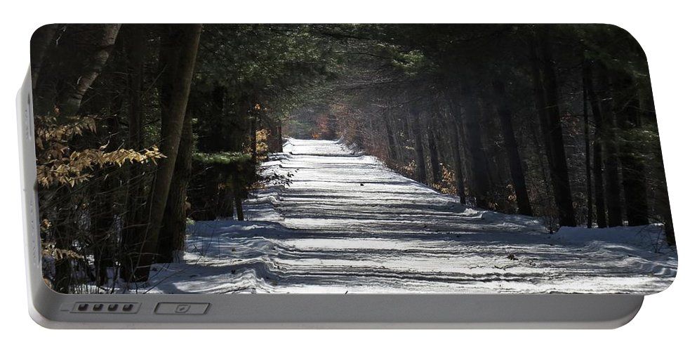 Trail Portable Battery Charger featuring the photograph Winter Trail by MTBobbins Photography