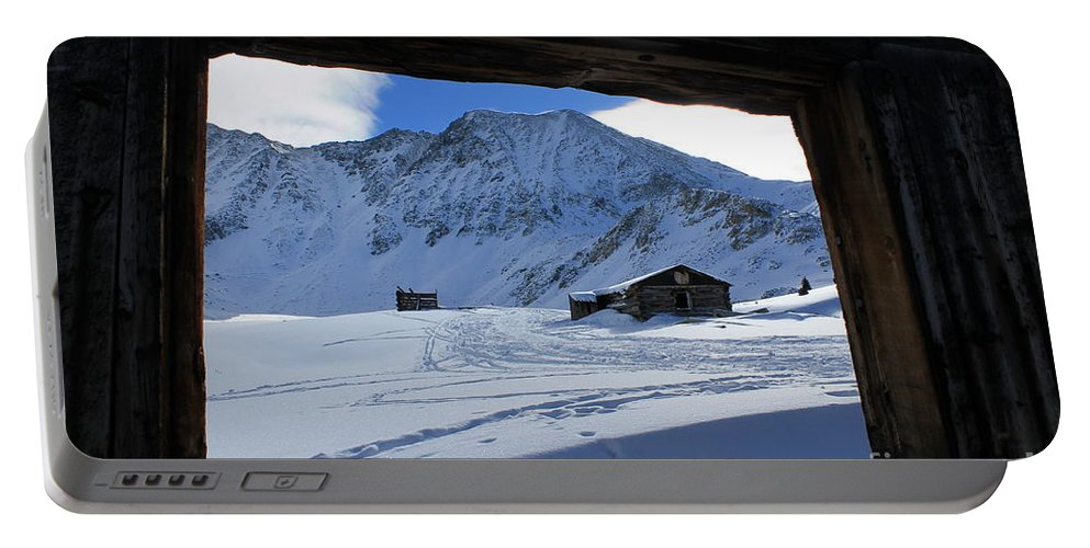 Nature Portable Battery Charger featuring the photograph Winter Window by Tonya Hance