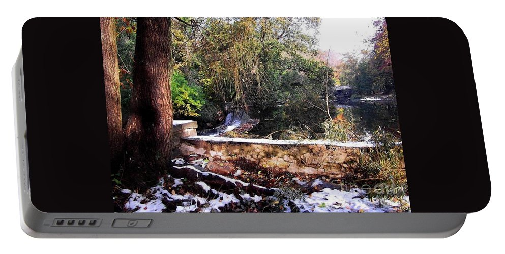 Nature Portable Battery Charger featuring the photograph Winter Woods With Melting Snow by Miriam Danar