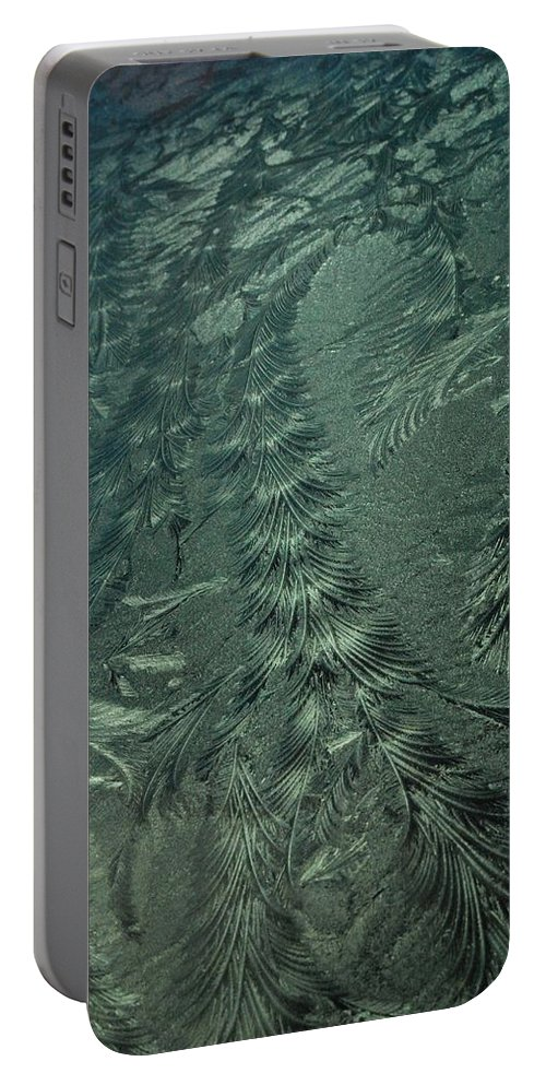 Ice Portable Battery Charger featuring the photograph Winter's Work 3 by SeaStarr Photography