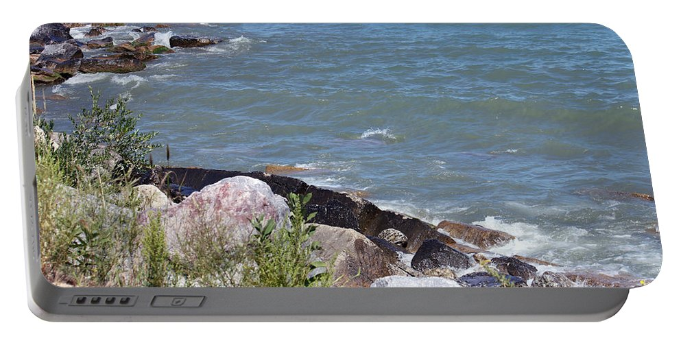 Winthrop Harbor Portable Battery Charger featuring the photograph Winthrop Water by Debbie Hart