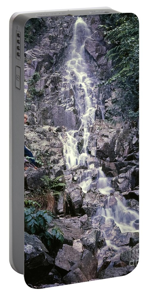 Portable Battery Charger featuring the photograph Wirt At Falls In Bc by Greg Reed