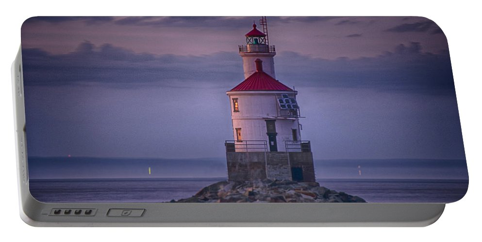 Lighthous Portable Battery Charger featuring the photograph Wisconsin Point by Craig Voth