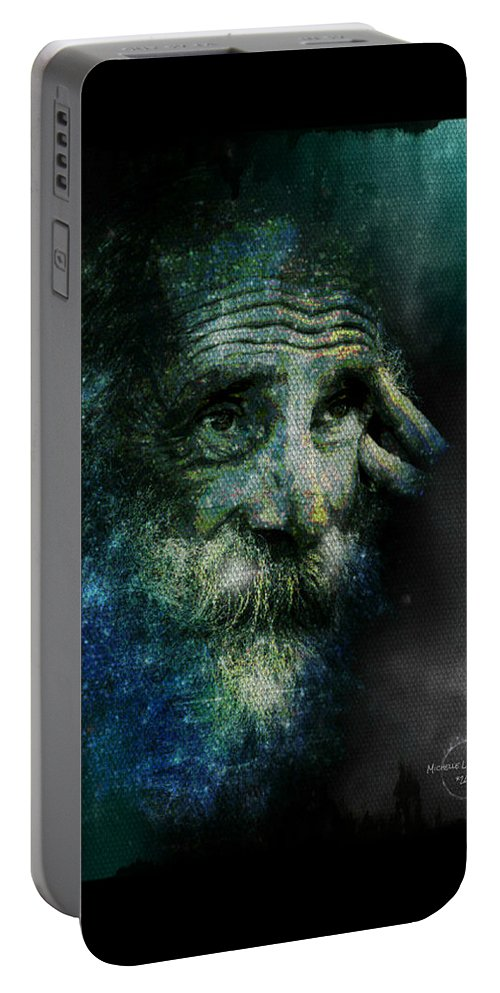 Wisdom Portable Battery Charger featuring the digital art Wisdom Of The Stars by Absinthe Art By Michelle LeAnn Scott