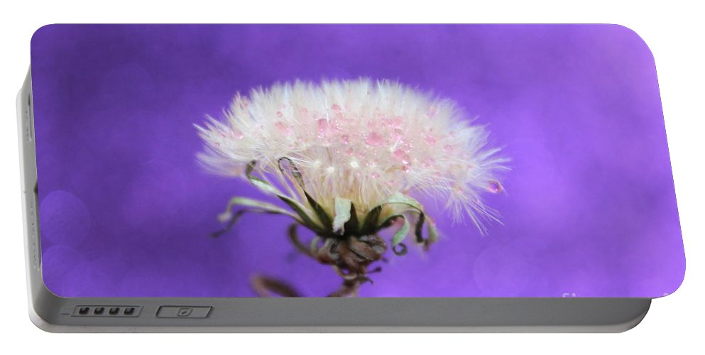 Dandelion Portable Battery Charger featuring the photograph Wish Of Love by Krissy Katsimbras