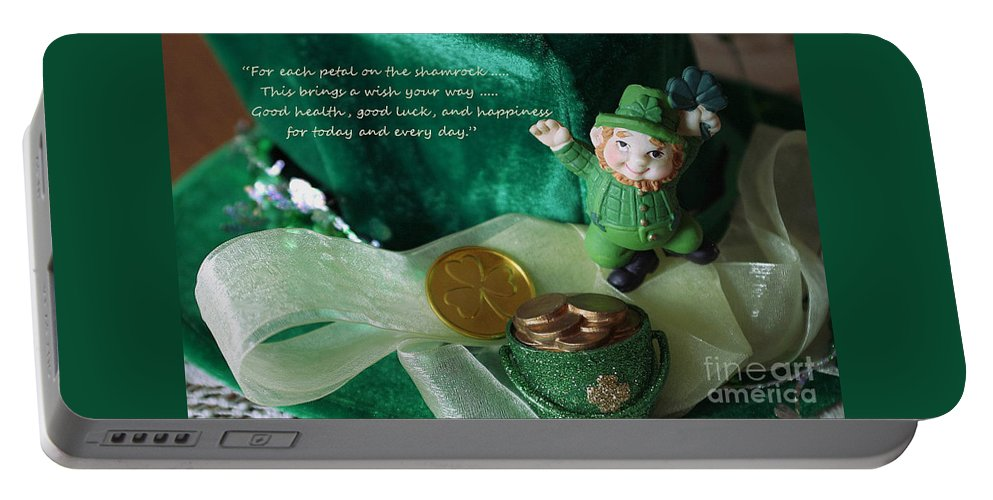 Happy St. Patricks Day Portable Battery Charger featuring the photograph Wishing You A Happy St. Patricks Day by Living Color Photography Lorraine Lynch