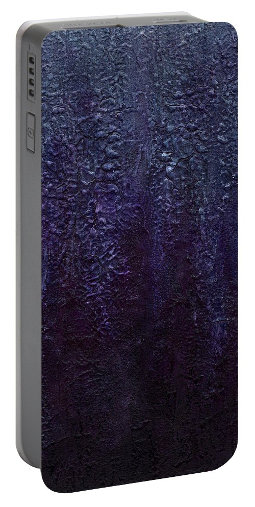 Art Portable Battery Charger featuring the painting Wisteria by Laura Teti