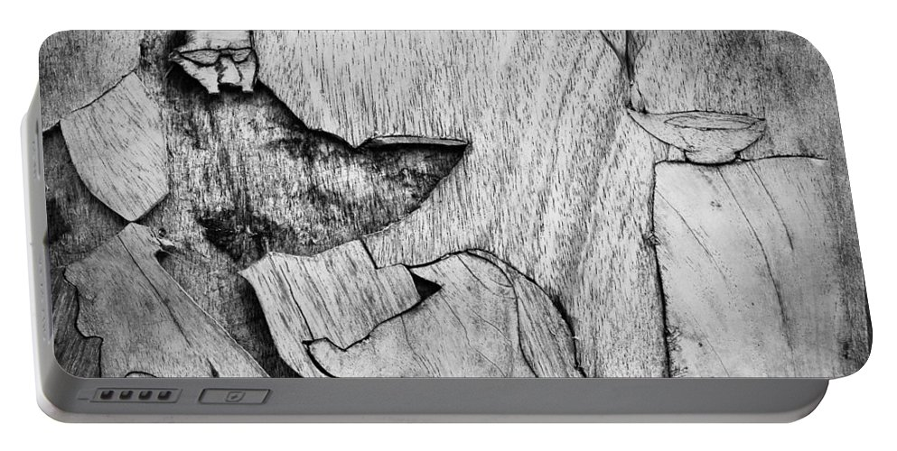 Carvings Portable Battery Charger featuring the photograph With My Dog N Tea by The Artist Project