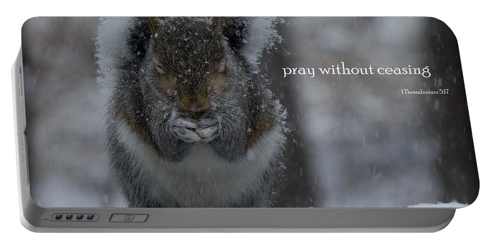 Pray Portable Battery Charger featuring the photograph Without Ceasing by Sandra Clark