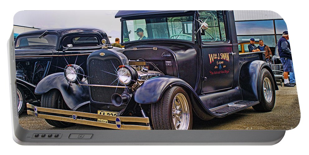 Cars Portable Battery Charger featuring the photograph Wm J. Swan Hdroc8044-13 by Randy Harris