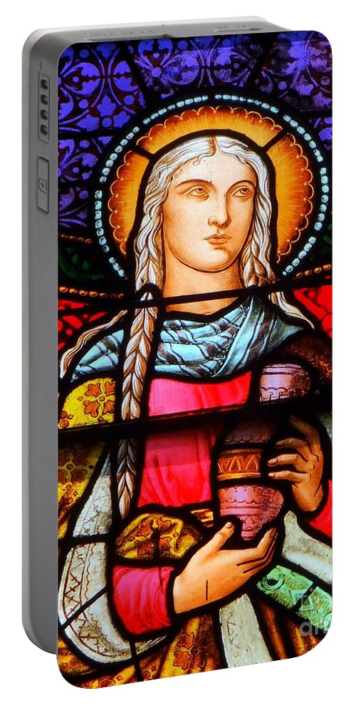 Stained Glass Portable Battery Charger featuring the photograph Woman In Braids by Ed Weidman