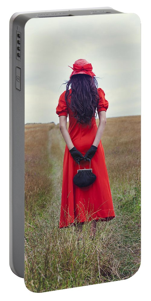 Woman Portable Battery Charger featuring the photograph Woman On Field by Joana Kruse