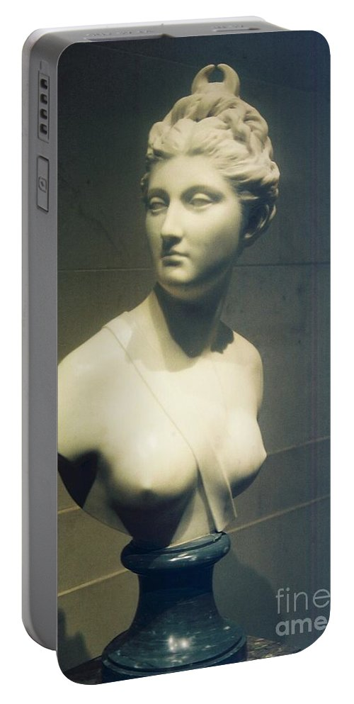 Woman Portable Battery Charger featuring the photograph Womans Bust by Eric Schiabor