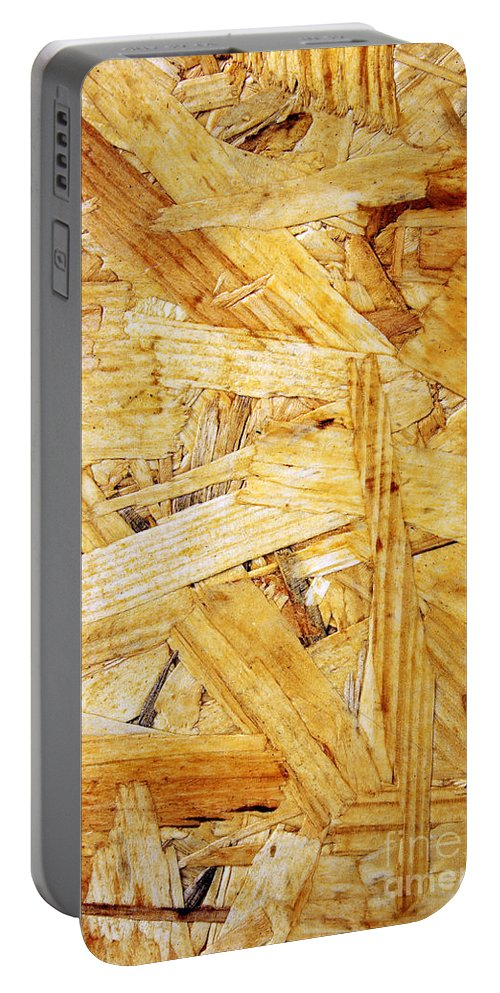 Plywood Portable Battery Charger featuring the photograph Wood Splinters Background by Carlos Caetano
