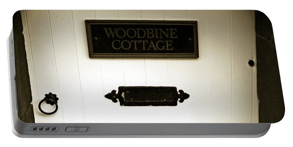 Bakewell Portable Battery Charger featuring the photograph Woodbine Cottage - In Bakewell Town Peak District - England by Doc Braham