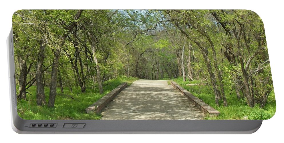 Paths Portable Battery Charger featuring the photograph Walking In The Park by Donna Wilson