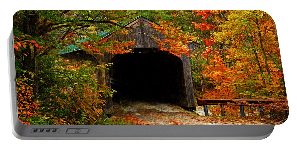 Fall Portable Battery Charger featuring the photograph Wooden Bridge by Bill Howard