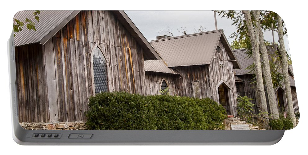 St. Joseph's-on-the-mount Episcopal Church Mentone Alabama Wooden Churches Cross Crosses Building Buildings Structure Structures Place Places Of Worship Early American Architecture Door Doors Window Windows Portable Battery Charger featuring the photograph Wooden Country Church by Bob Phillips