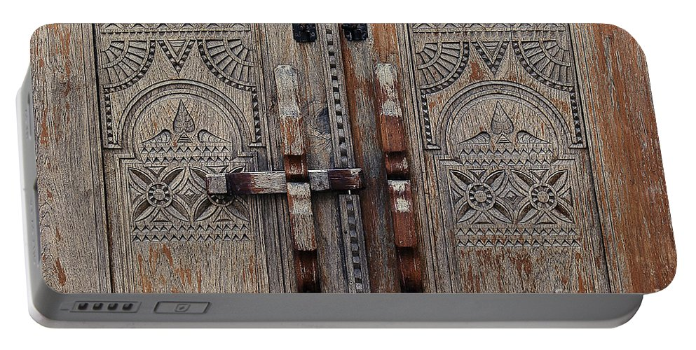 Photography Portable Battery Charger featuring the photograph Wooden Door by Ivy Ho