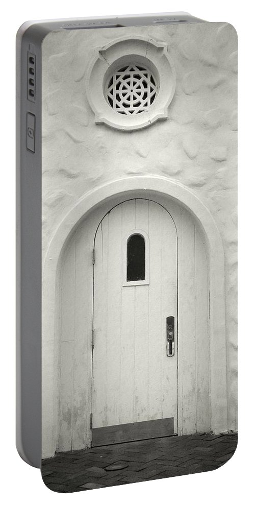 Ancient Portable Battery Charger featuring the photograph Wooden Door by Rudy Umans