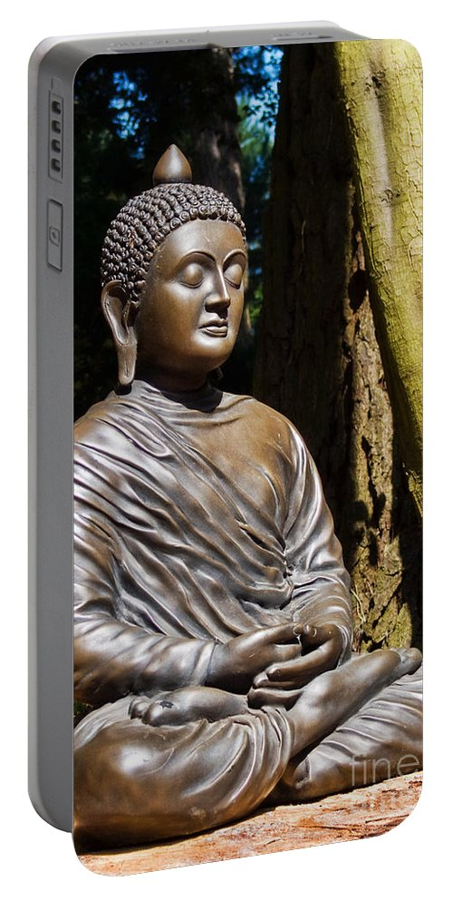 Sculpture Portable Battery Charger featuring the photograph Woodland Meditation by Susie Peek