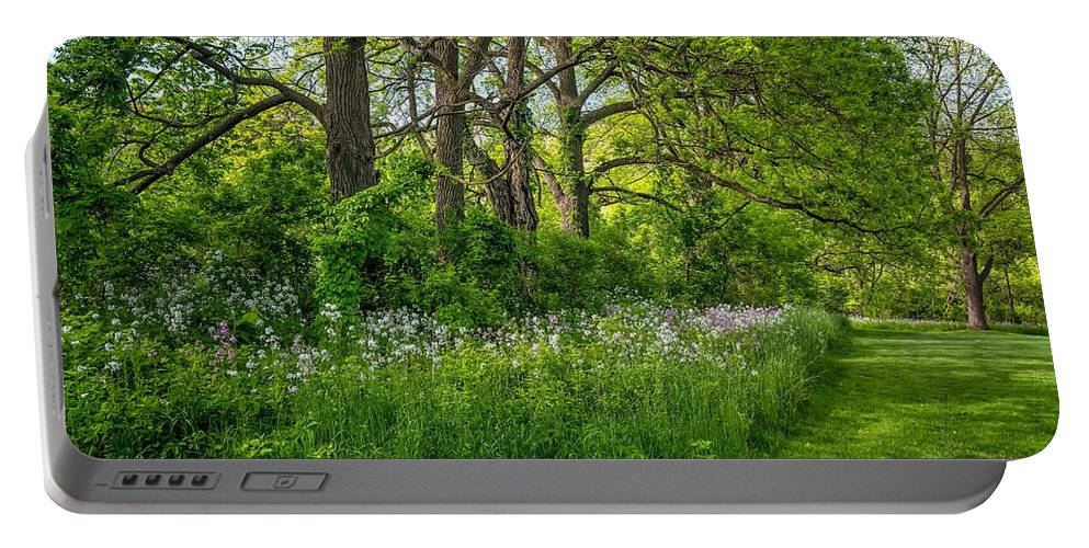 Bolton Portable Battery Charger featuring the photograph Woodland Phlox  by Steve Harrington