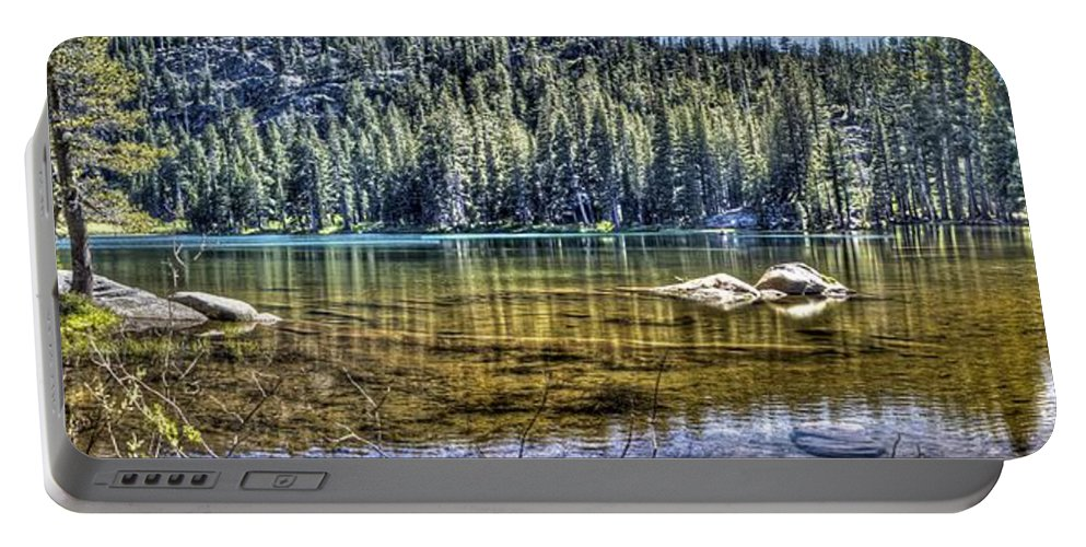 Lake Portable Battery Charger featuring the photograph Woods Lake 3 by SC Heffner