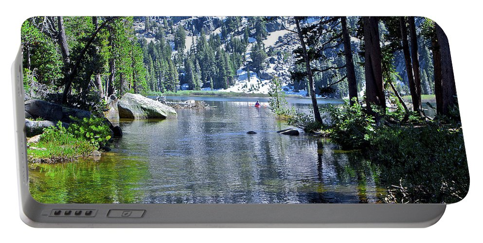 Lake Portable Battery Charger featuring the photograph Woods Lake by SC Heffner