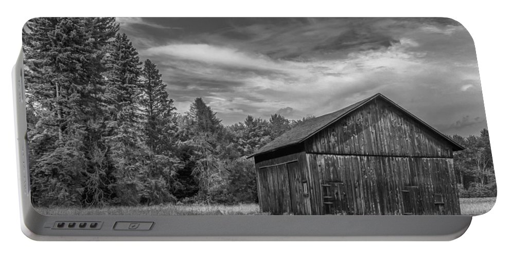 Barn Portable Battery Charger featuring the photograph Woody  7d06977 by Guy Whiteley