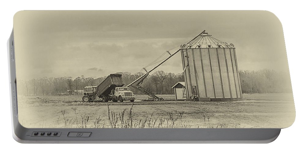 Farm Portable Battery Charger featuring the photograph Working Farm by Eleanor Bortnick