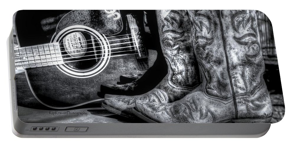 Cowboy Boots Portable Battery Charger featuring the photograph Working Man's Blues by Kip Krause